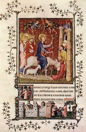14th century painters  page from the Très belles Heures de Notre Dame