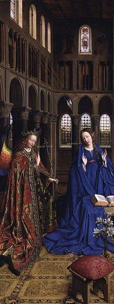 Annunciation Jan van Eyck 1434 Wash DC