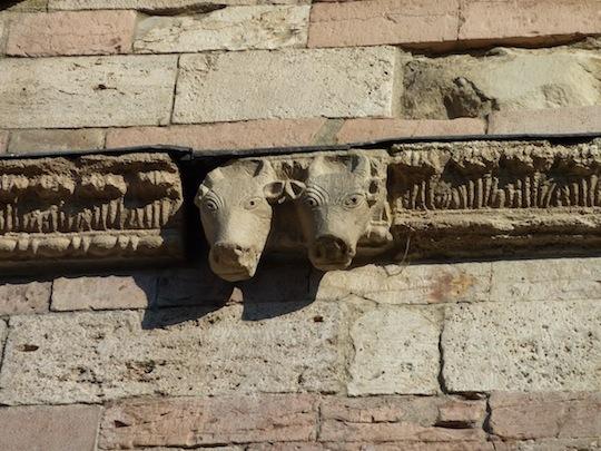 medieval stonework Bevagna Umbria