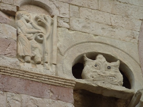 medieval stone work in Umbria