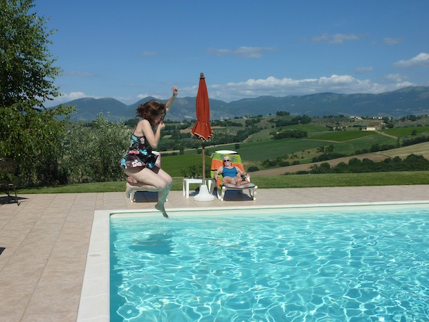 pool in early summer at Genius Loci