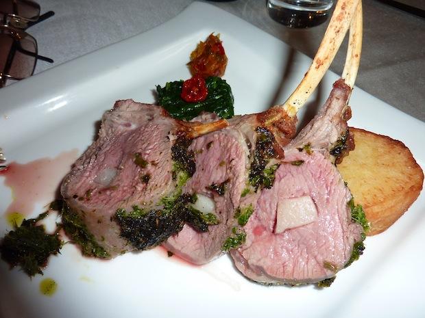 succulent roast crown of lamb