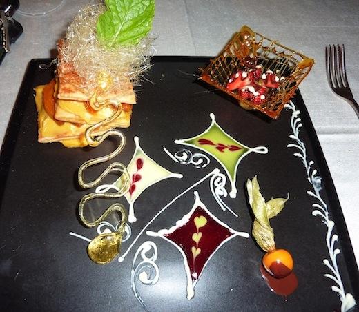 """medieval"" decorated dessert"