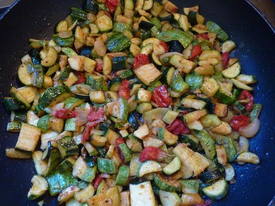 pan sauteed zucchini