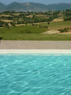 pool at Genius Loci Country Inn in Umbria