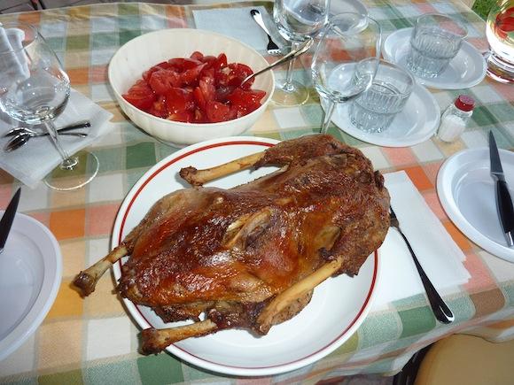 Roast Goose - Genius Loci Country Inn - Umbria