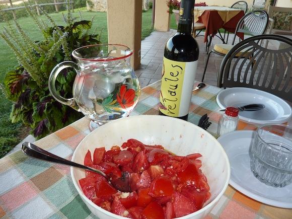 sun-ripened tomatoes at Genius Loci Country Inn - Umbria