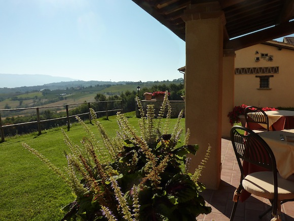 view at breakfast from Genius Loci Umbria