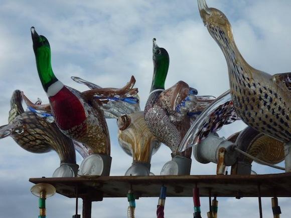 Murano glass ducks
