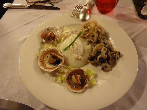 venice Italy - fresh fish appetizer