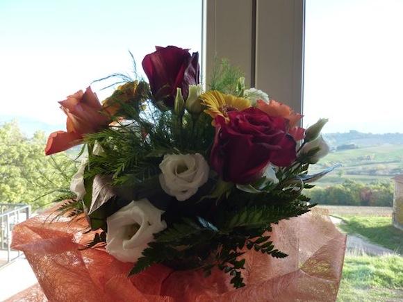 flowers and view at Genius Loci Umbria