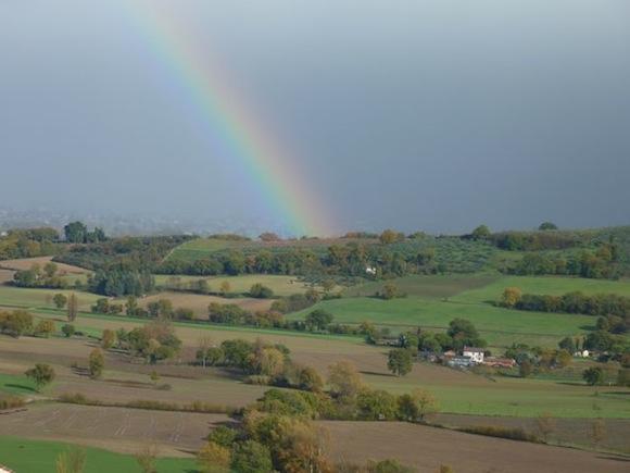 rainbow at Genius Loci Bevagna Umbria