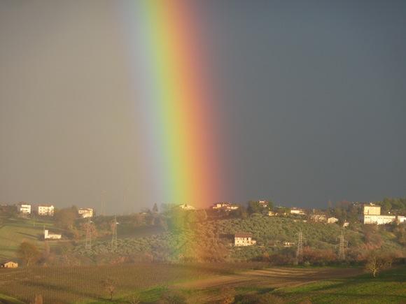 Genius Loci Umbria - rainbow over the valley
