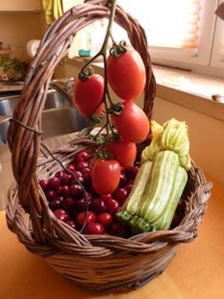 Umbria summer fruit and vegetables
