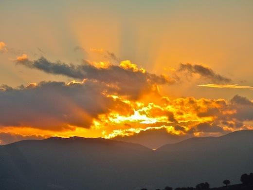 sunrise in Umbria