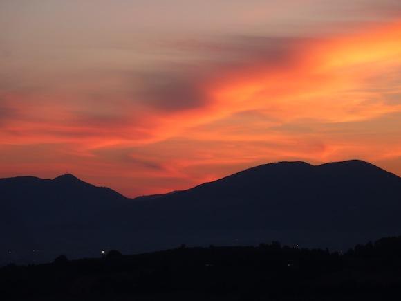 Umbrian summer sunrises