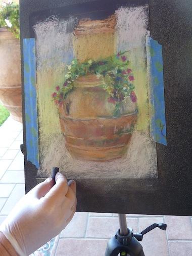 painting at Genius Loci Umbria