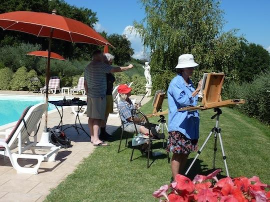 artists painting at genius loci