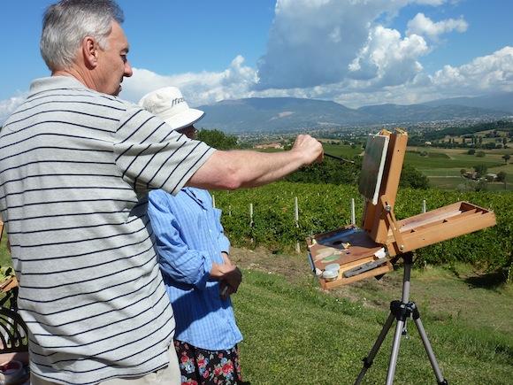 artist Trevor Newman teaching at Genius Loci