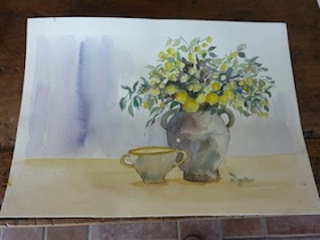 Watercolors Painting in Umbria