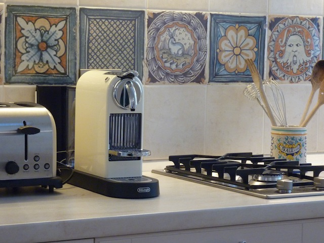 detail of Genius Loci Umbria Apt. kitchen