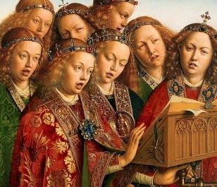 detail of the Ghent Altar Piece