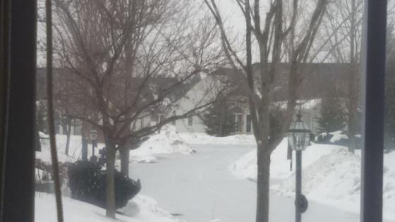frozen winter roads